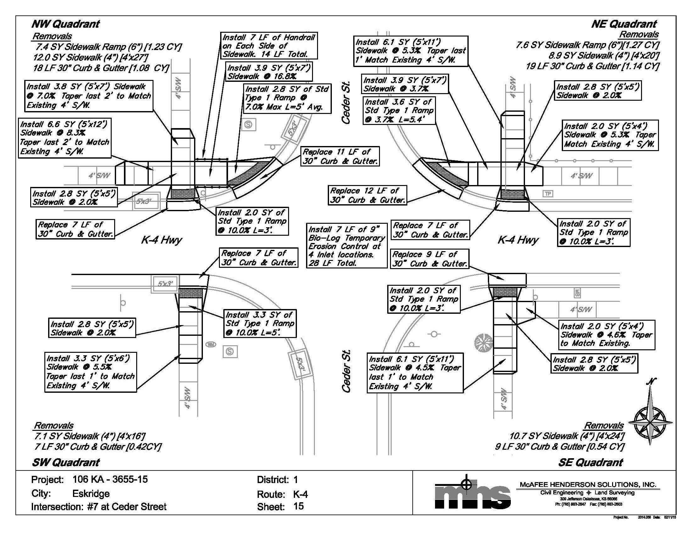 Statewide ADA Sidewalk Improvements - State of Kansas
